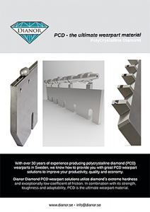 PCD, the ultimate wearpart material